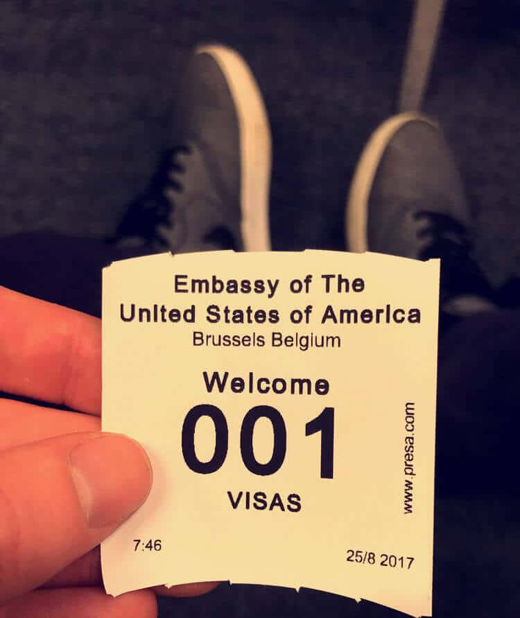 Waiting at the US Embassy in Brussels
