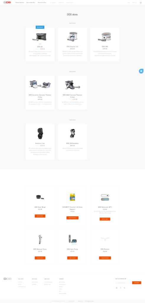 DDS Shop Page