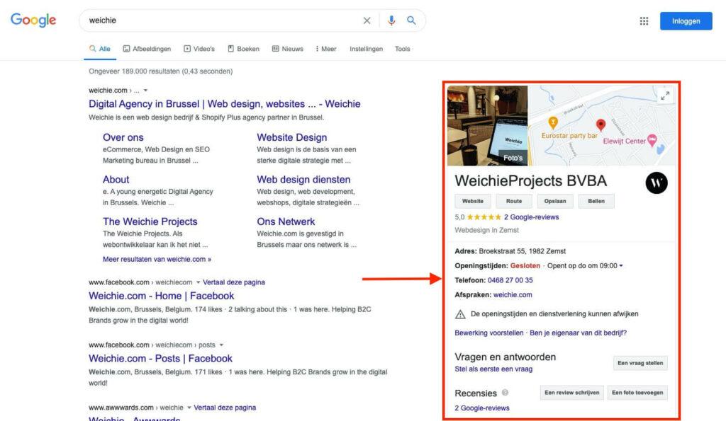 technique de référencement hors page google mon entreprise